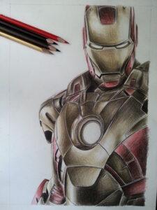 Alucinantes dibujos de Ironman hechos por fan