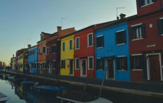 Casas coloridas en Burano