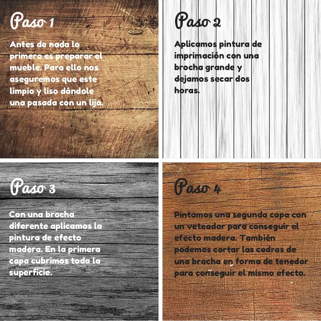 Cómo conseguir un efecto madera al pintar
