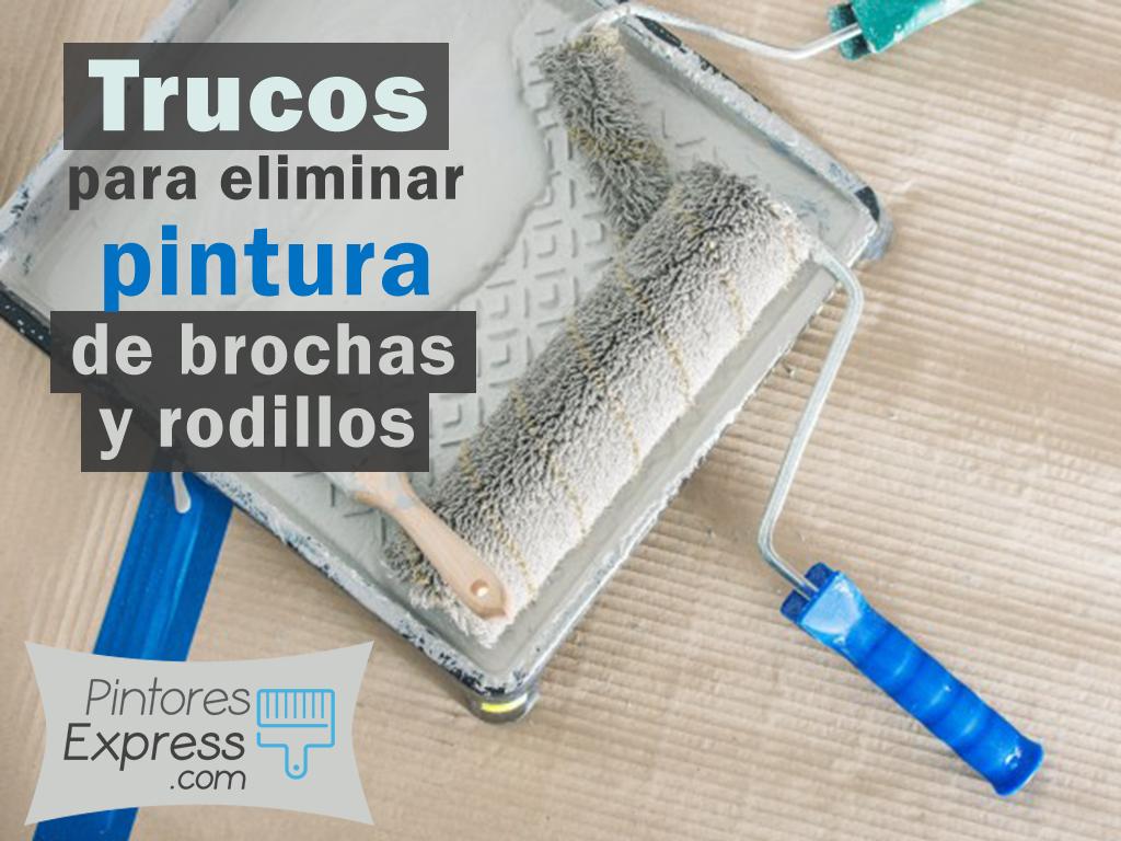 Cómo eliminar los restos de pintura en brochas y rodillos