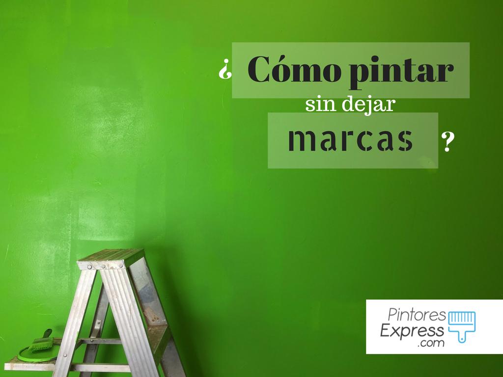 Cómo pintar sin dejar marca en las paredes