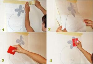 Cómo poner vinilos de decorativos