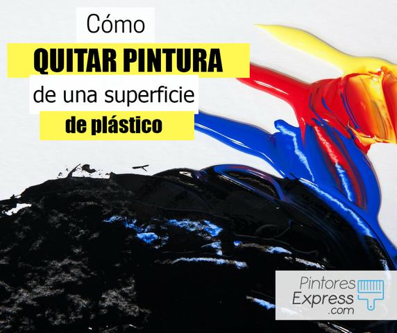 Cómo quitar la pintura de una superficie plástica