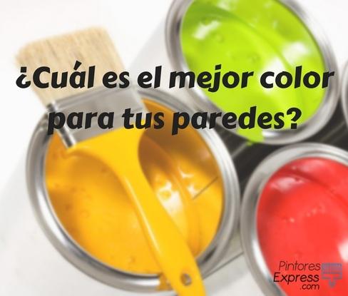 Cuál es el mejor color para pintar tus paredes