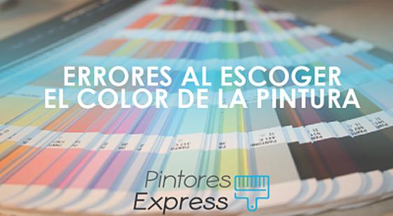 Errores comunes al escoger el color de la pintura