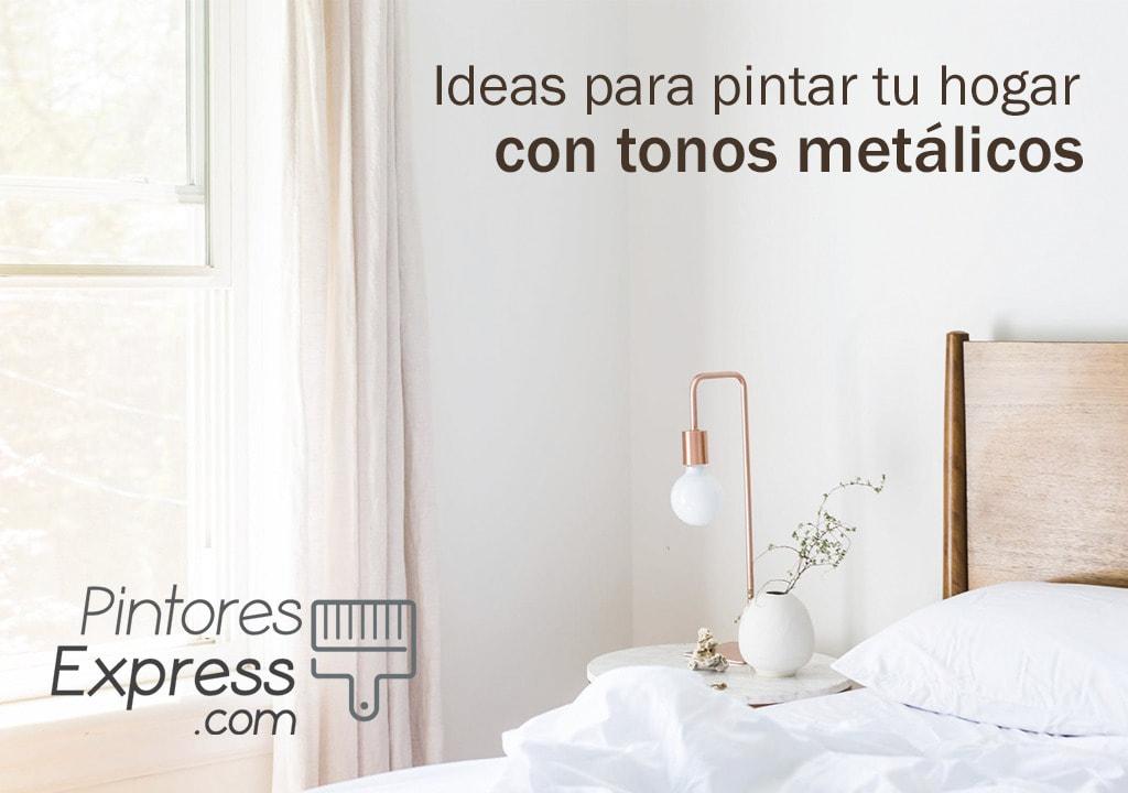 Ideas para pintar tu hogar con tonos metálicos