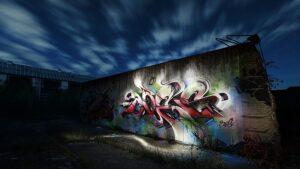 Impresionante alucinantes graffitis en una nave abandonada