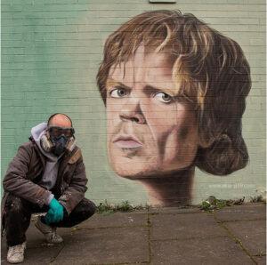 Increíbles graffitis de series de televisión