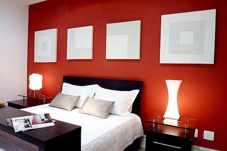 Pintar paredes de color rojo