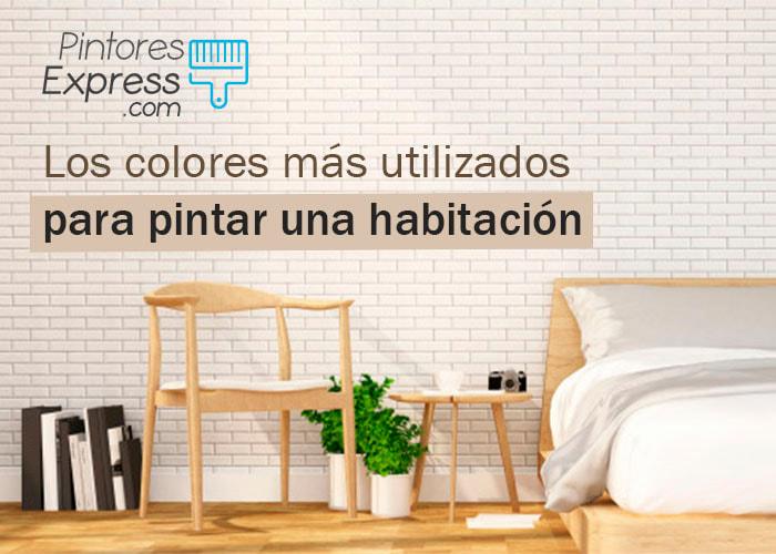 Los colores más utilizados para pintar una habitación