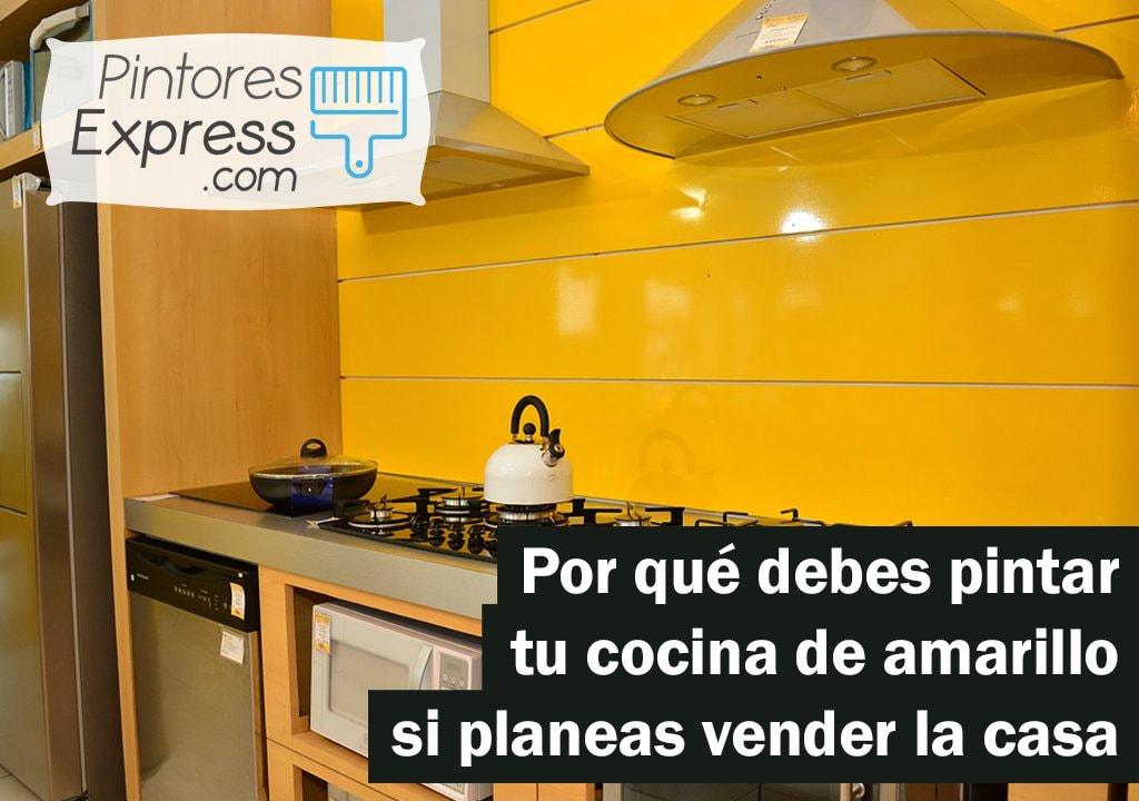 Pintar cocina de amarillo para vender tu casa