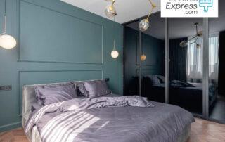 Dormitorio pintado por profesionales